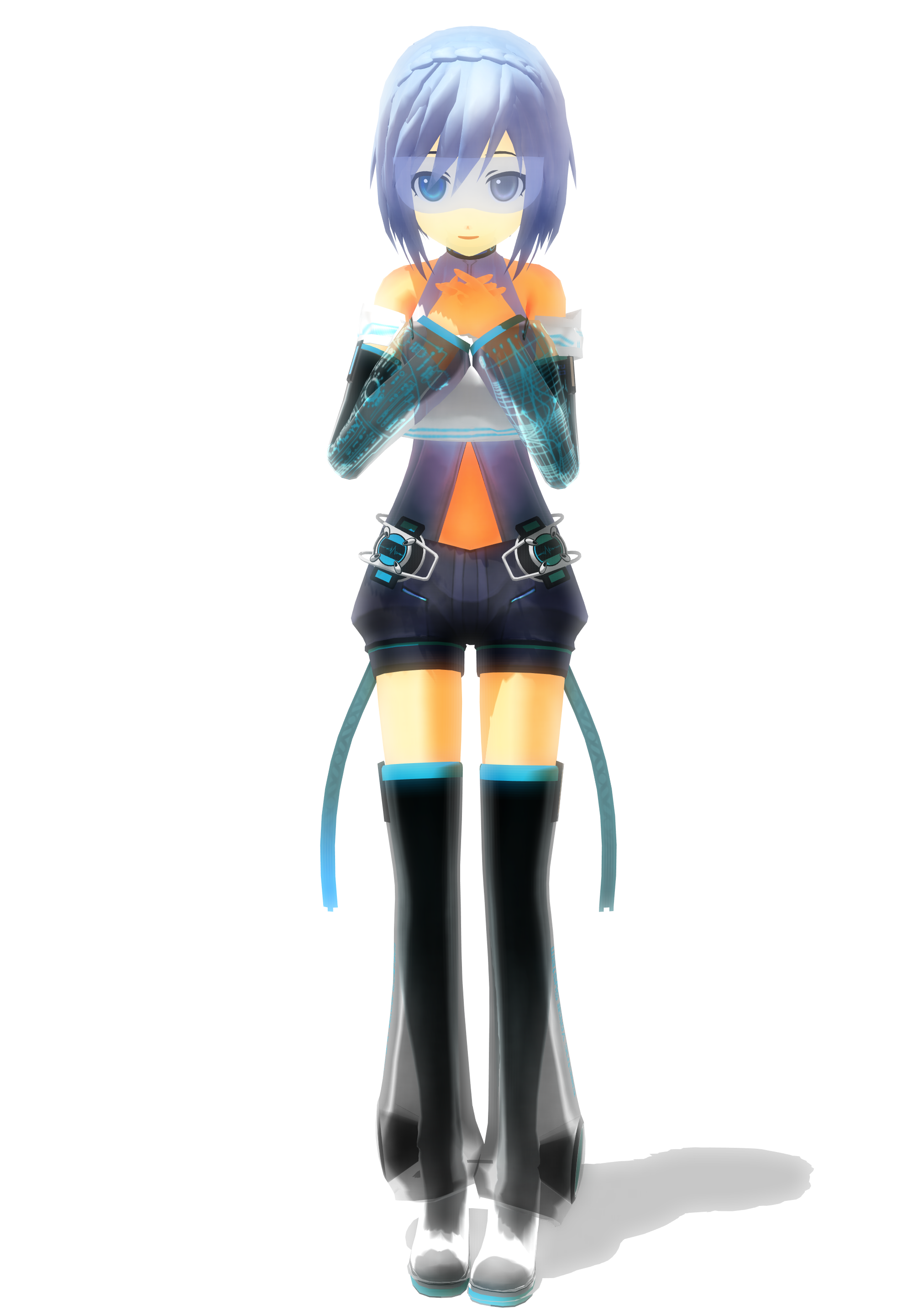 3d mmd body to body haku gagged and dildoed 10