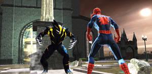 Spiderman vs Symbiote-Wolverine