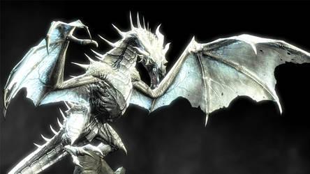 Snow Dragon of Skyrim by saltso