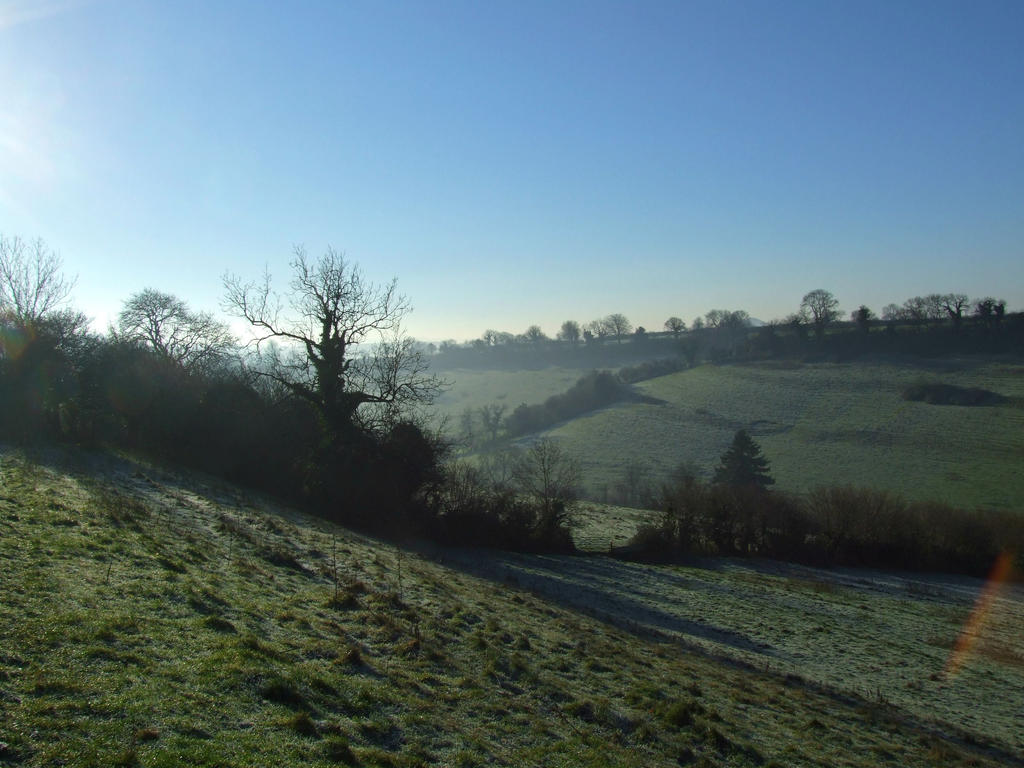 Frosty Fields by LaurenceCrist