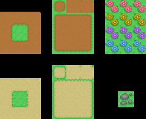 Assorted 32x32 tiles