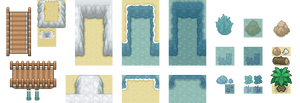 Beach and Sea Tiles by PeekyChew