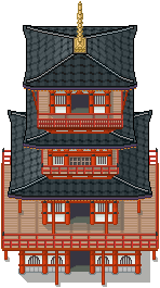 Japanese Pagoda Tiles by PeekyChew