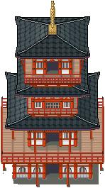 Japanese Pagoda Tiles by PeekyChew