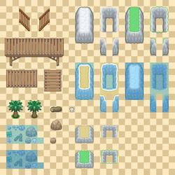 Public Tileset Dump 3/4 - Beach and Sea