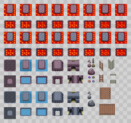 Lava and Cave Tileset