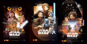 Star Wars Celebration Posters Ep.1-3