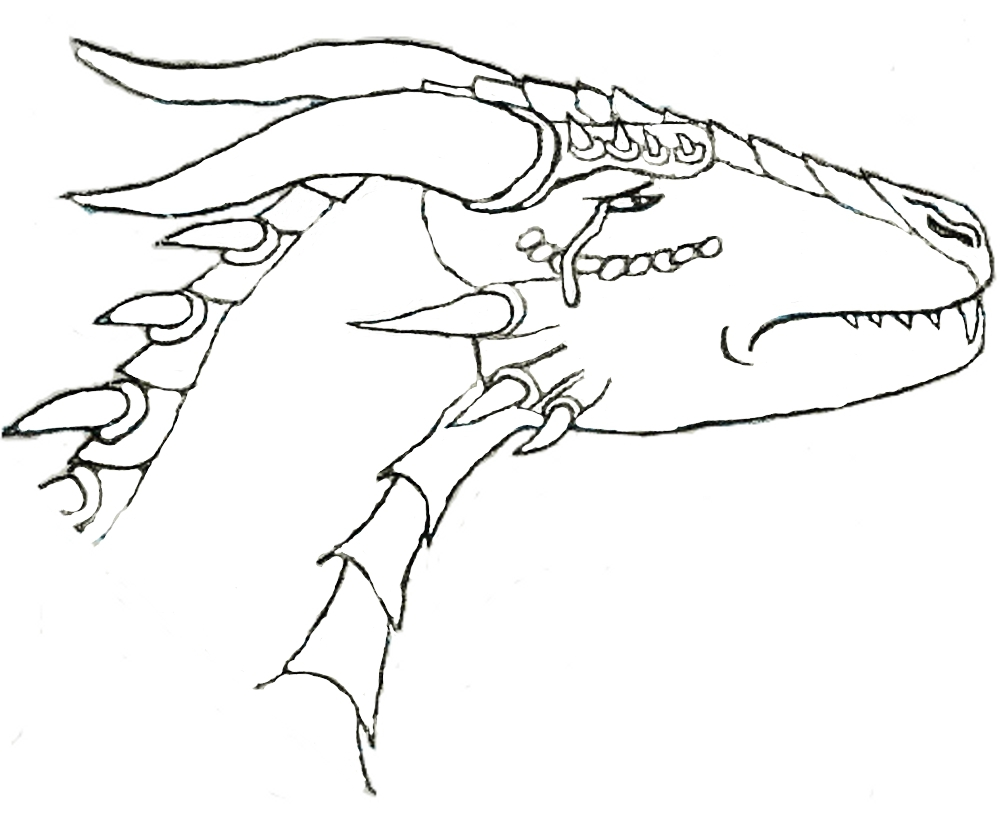 Dragon Lineart : Dragon lineart by chickenscratch on deviantart