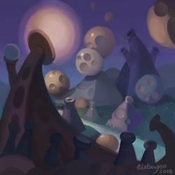 Abstract Fantasy Dreamscape? by Elebeyno