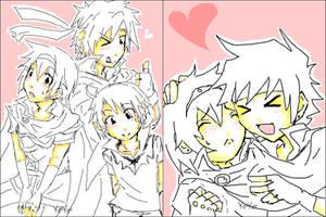 :SSBB:Ike:Marth:Link:Tegaki: by KaiSuki