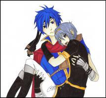 :SSBB:Ike:Marth:Cling: by KaiSuki