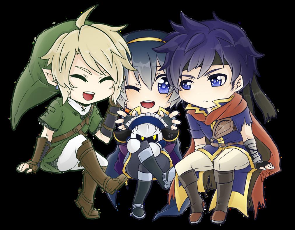:SSBB:Cute:Swordsmen: by KaiSuki