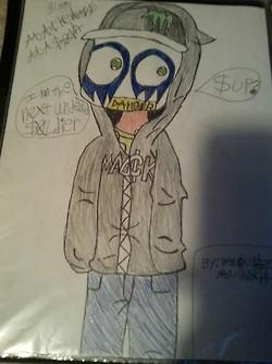ME drawn in Chibi form H.U SOLDIER, IM UNDEAD by DarkL0rd15