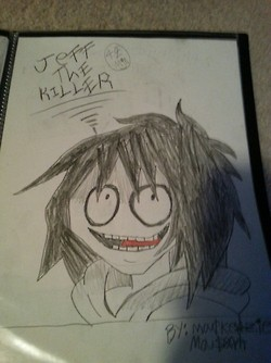 Credit to Creepy Pasta) JEFF THE KILLER! by DarkL0rd15
