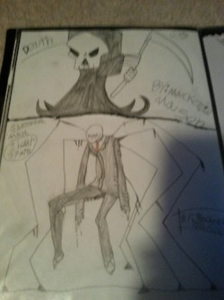 DEATH!!! and Slender Man! (two in one!) by DarkL0rd15