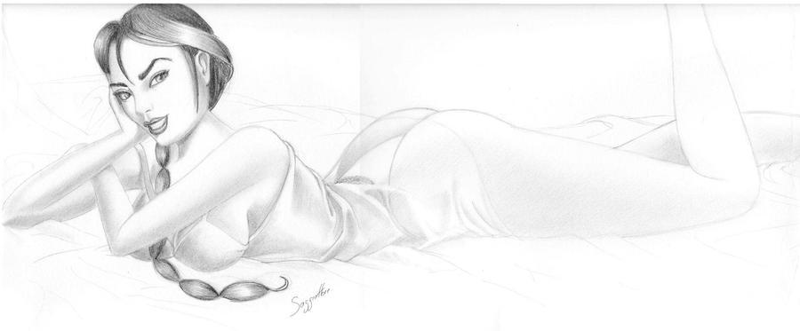 Lara Croft by saggiattore