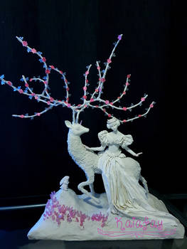 ooak fairy art doll tableau by kaiafay