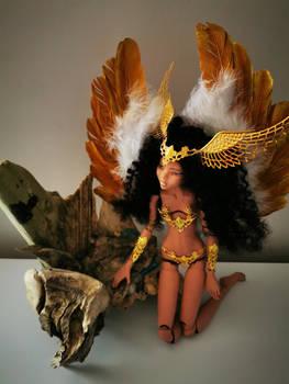 ooak art doll porcelain BJD Inana Egyption princes