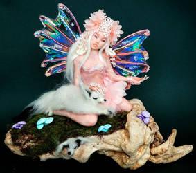 ooak fairy art doll figurine by Kaiafay