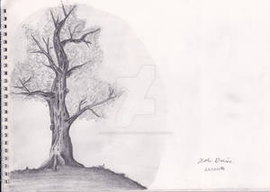 Medieval Theme Tree Sketch