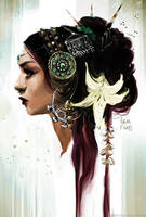 Tribal fusion portrait by ViridRain