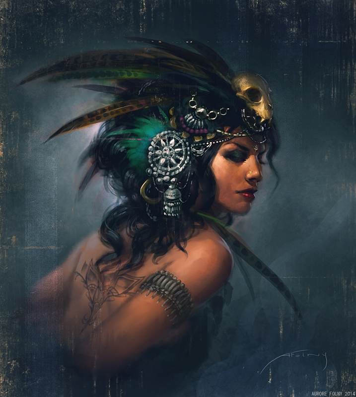 Exotic Tribal Fusion portrait by ViridRain