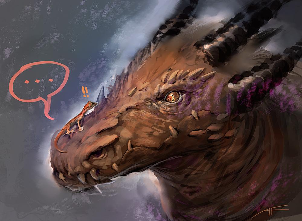 Malkad, king of geckos by ViridRain