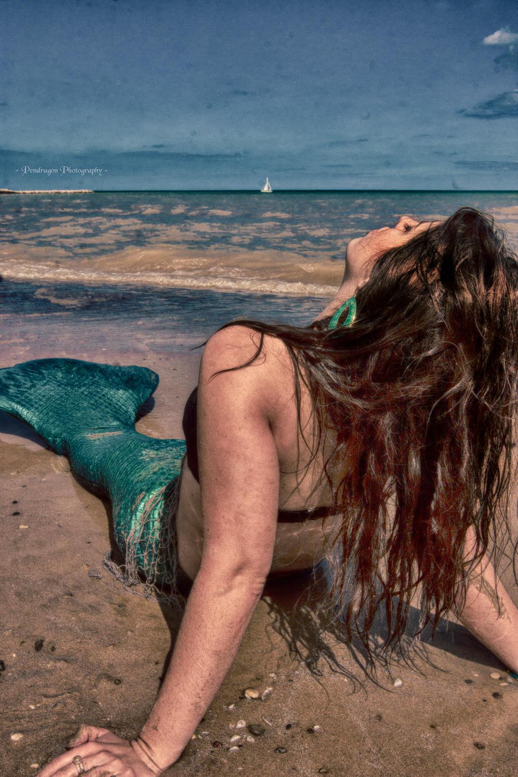 Mermaid Aiyana on the Beach by pendragon93