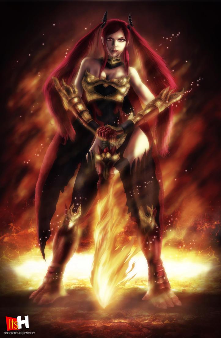 erza scarlet flame empress armor by hellpurestdevil on