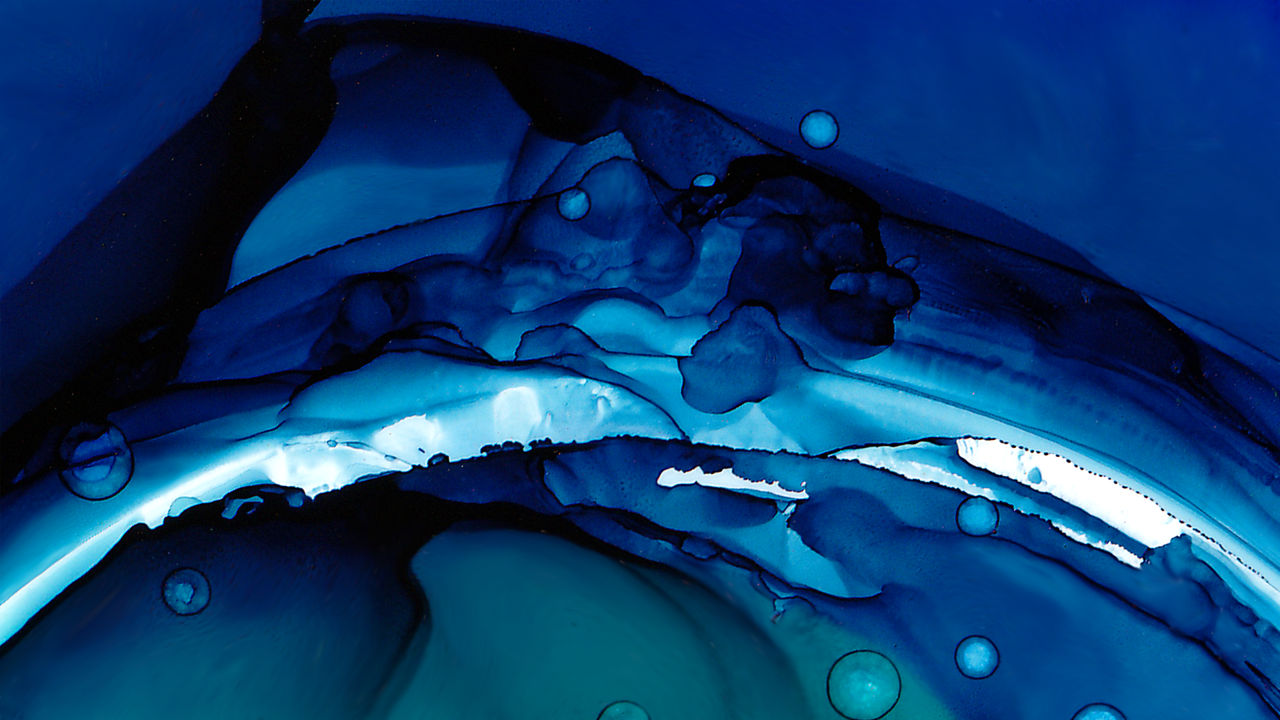 Abstract Design Blue Green Alcohol Ink Wallpaper By