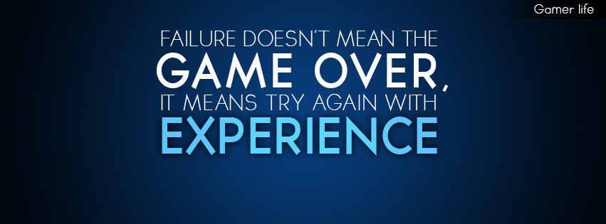 Gamer Quotes Facebook Cover By EkdesignEKD