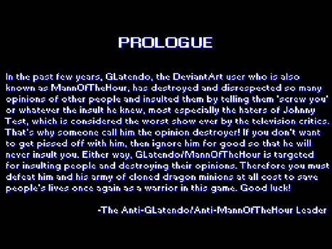 Anti-GLatendo Exterminator: Prologue screen