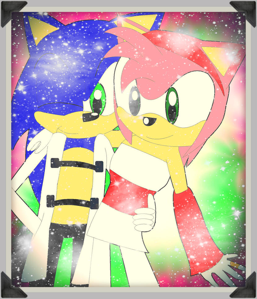 Sonic and Amy: Wedding Attire II by PhotoPhobee on DeviantArt  Sonic and Amy: ...