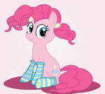 Pinkie Pie - in pigtails and socks