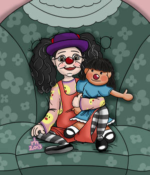 Fanart - Big Comfy Couch - Loonette and Molly