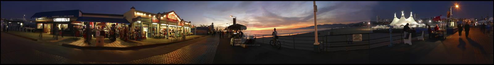 Santa Monica Pier by Leathj