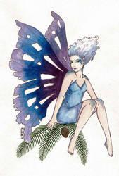 Christmas Fairy Blue by kaboushka