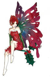 Christmas Fairy Red by kaboushka