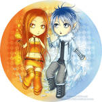 Ice and Fire chibi ver