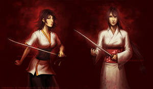 Kiwako and Kazusa by anikakinka