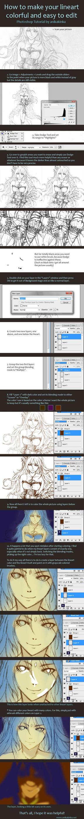 Color Lineart Tutorial by anikakinka