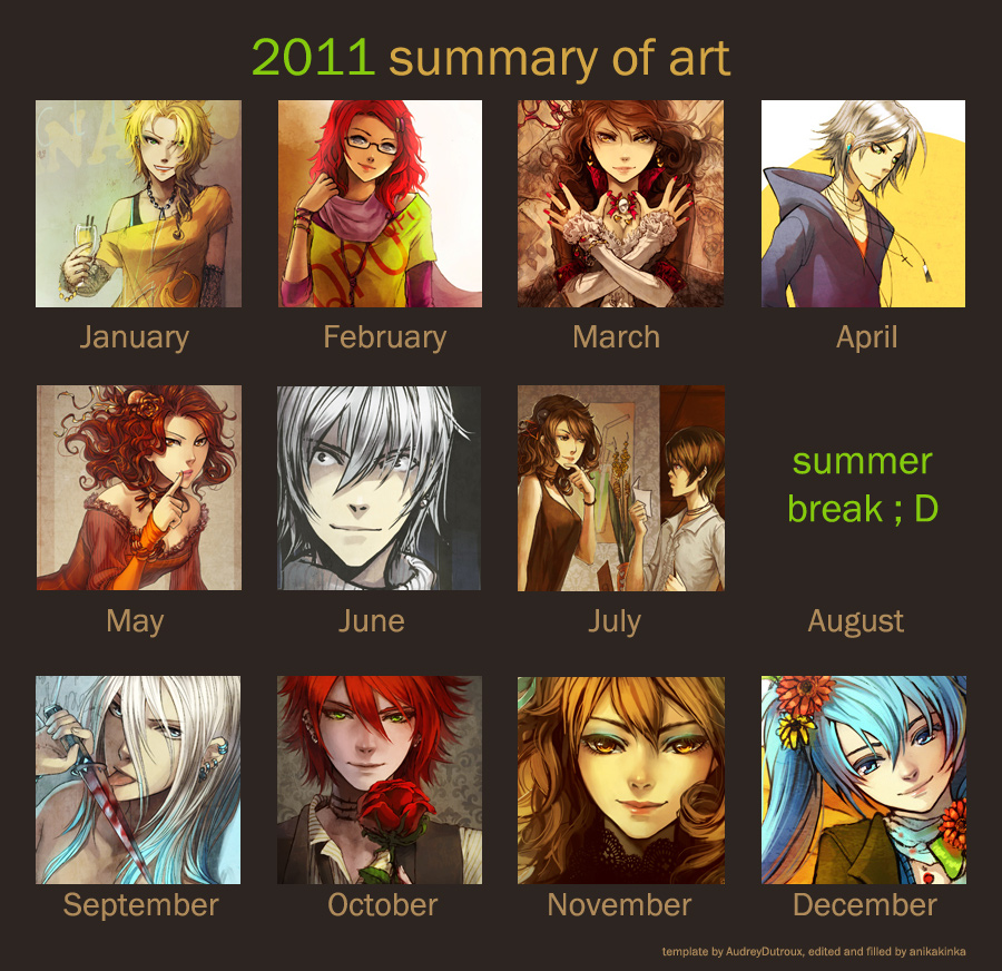2011 summary of art by anikakinka