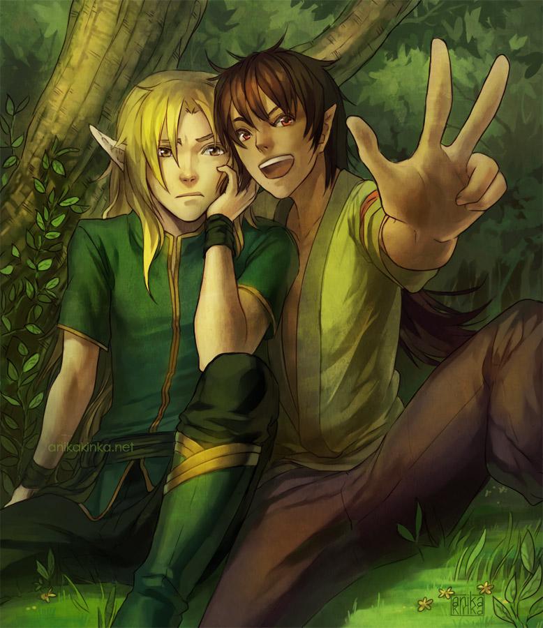 Mu and Li by anikakinka