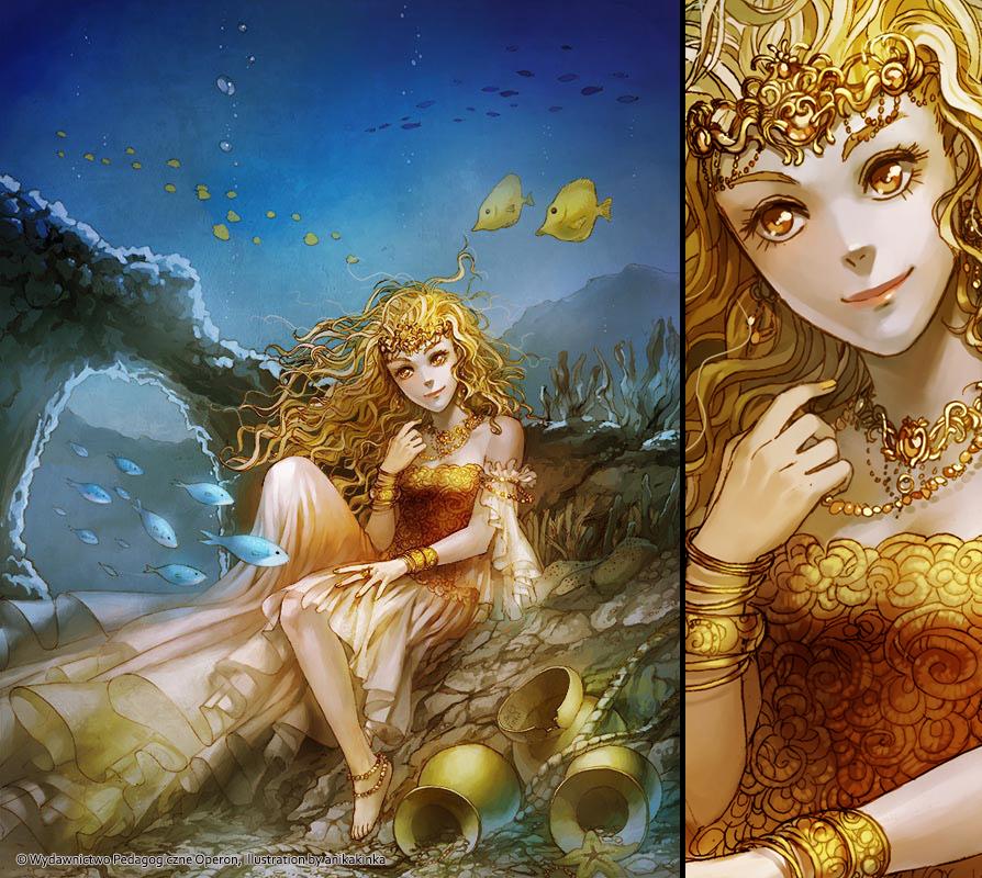 Underwater Amber Princess by anikakinka