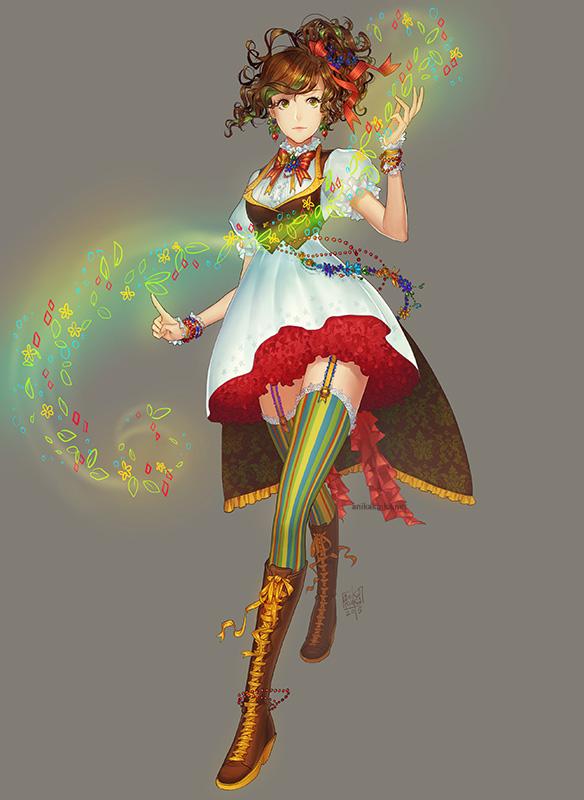 Flora character design by anikakinka