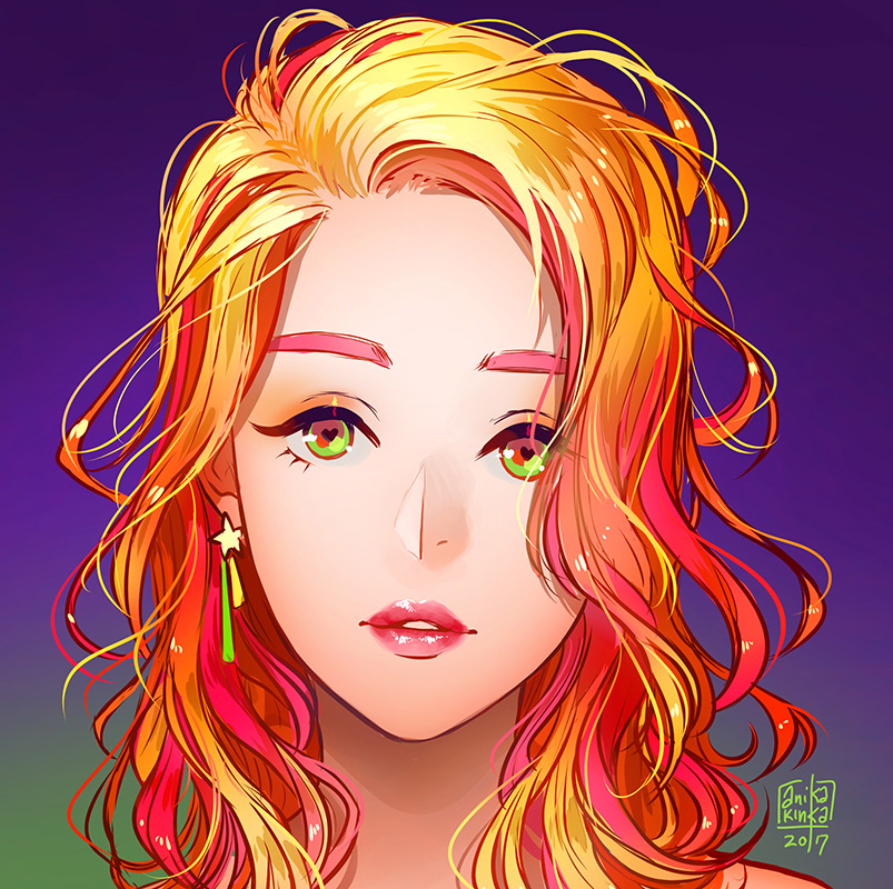 hair practice 2 by anikakinka