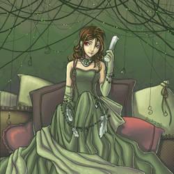 o003 Green Dress by anikakinka