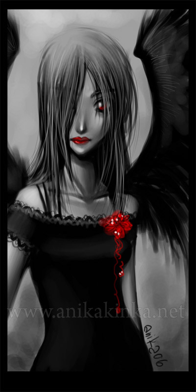 bw001 Dark Angel by anikakinka