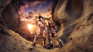 Barbarian Couple Cosplay - Diablo 3 by emilyrosa