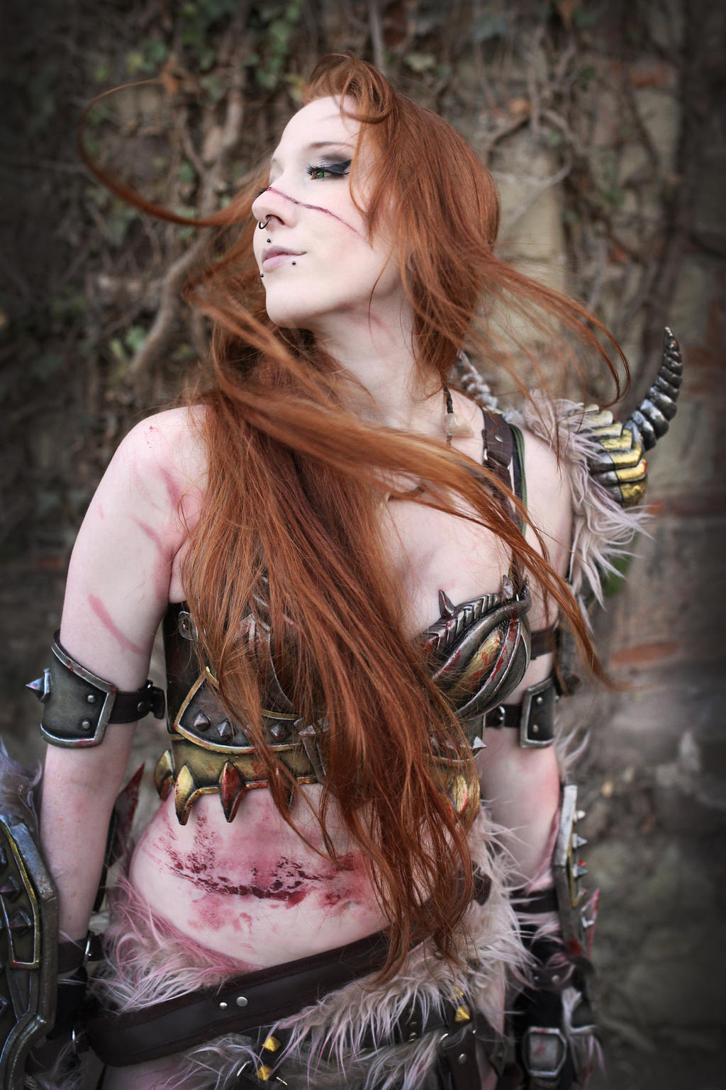 Cosplay Female Barbarian Diablo 3 by emilyrosa